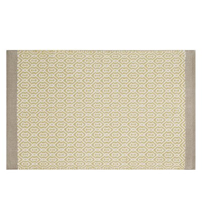 Charlie Geometric Doormat Rug Size: Rectangle 23 x 38, Color: Yellow