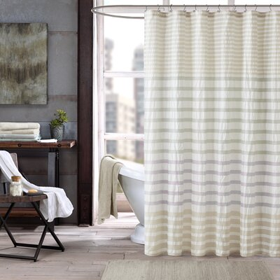 Sutton Cotton Printed Shower Curtain