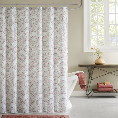 Muriel Cotton Printed Shower Curtain