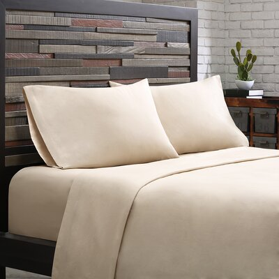 Elfand 300 Thread Count Cotton Sheet Set Size: Twin, Color: Khaki