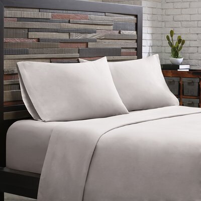 Elfand 300 Thread Count Cotton Sheet Set Size: Twin, Color: Grey