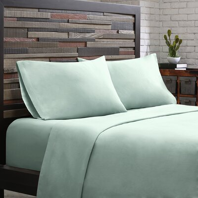 Elfand 300 Thread Count Cotton Sheet Set Size: Twin, Color: Aqua