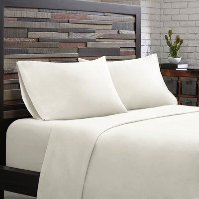 Elfand 300 Thread Count Cotton Sheet Set Size: Full, Color: White