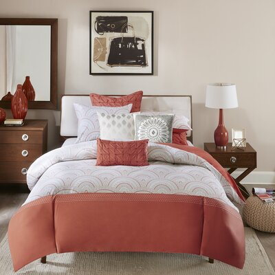 Muriel 3 Piece Duvet Cover Set Size: Full / Queen