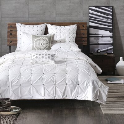 Masie 3 Piece Comforter Set Size: King/California King, Color: White