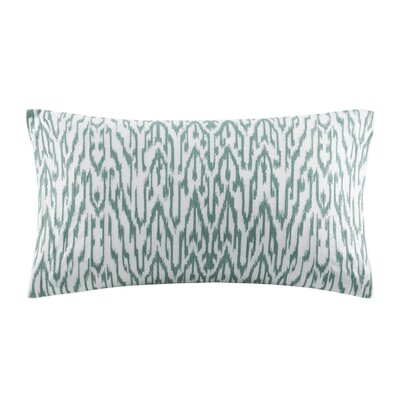 Martina Embroidered Decorative Cotton Lumbar Pillow Color: Seafoam
