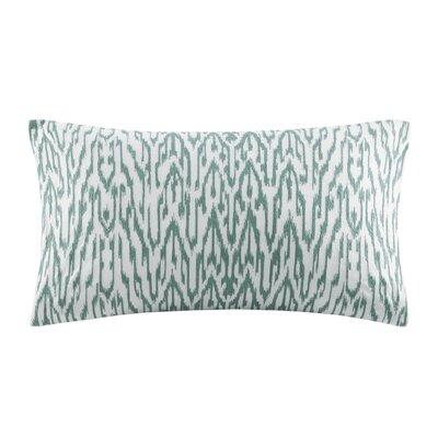 Martina Embroidered Decorative Cotton Lumbar Pillow Color: Seafoam