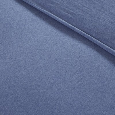 Jersey Duvet Cover Set Size: Full /Queen, Color: Blue