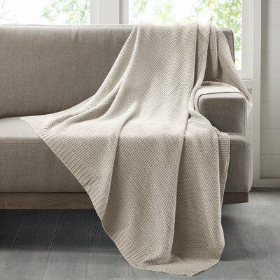 Bree Knit Throw Blanket Color: Ivory