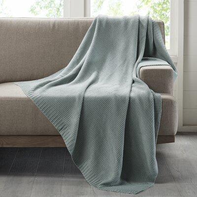 Bree Knit Throw Blanket Color: Aqua