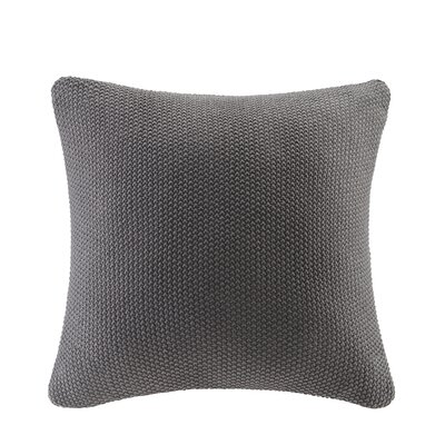 Bree Knit Pillow Cover Color: Charcoal