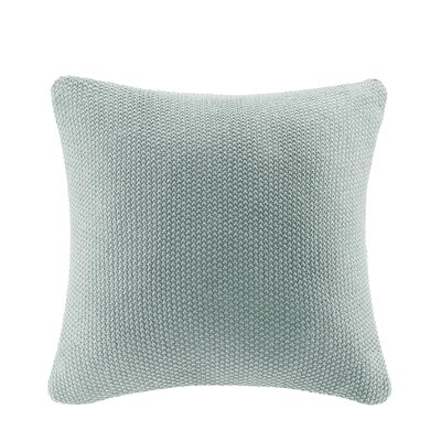 Bree Knit Pillow Cover Color: Aqua