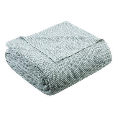 Bree Knit Blanket Size: 90 W x 108 L, Color: Aqua