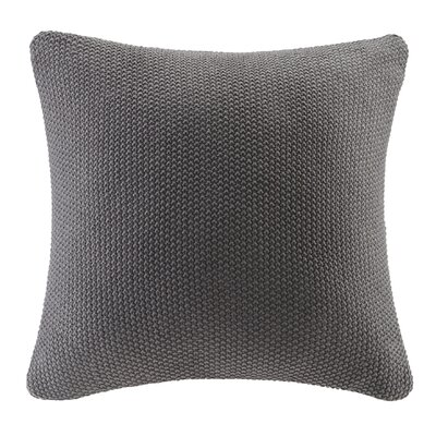 Bree Knit Throw Pillow Cover Color: Charcoal