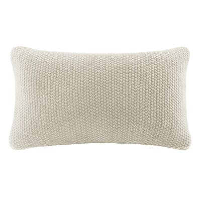 Bree Knit Lumbar Pillow Cover Color: Ivory