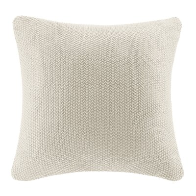 Bree Knit Throw Pillow Cover Color: Ivory