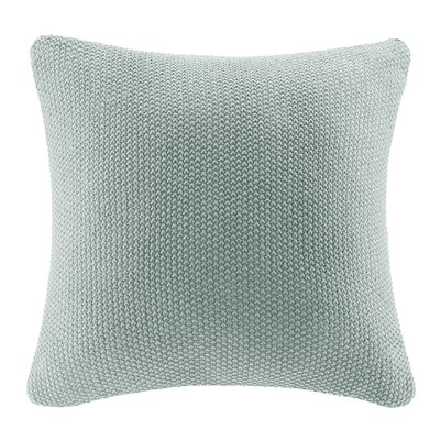 Elliott Knit Throw Pillow Cover Color: Aqua