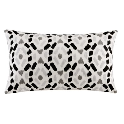 Auden Embroidered Lumbar Pillow Color: Black