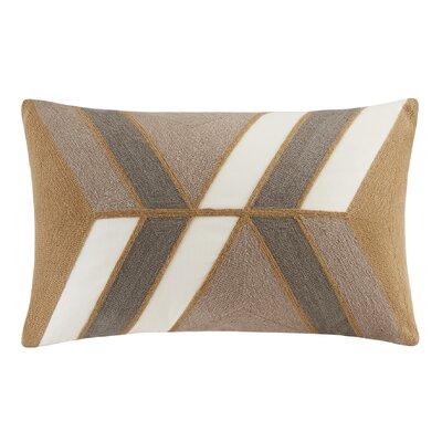 Aero Embroidered Lumbar Pillow Color: Natural
