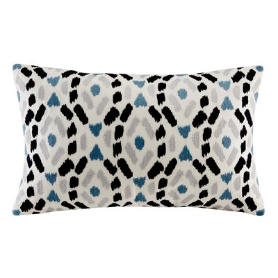 Auden Embroidered Lumbar Pillow Color: Blue