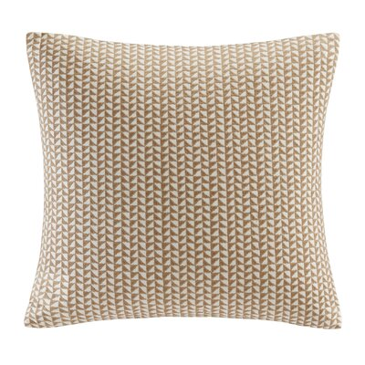 Tait Embroidered Block Throw Pillow Color: Taupe