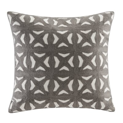 Nova Embroidered Throw Pillow Color: Gray