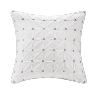 Ellington Embroidered Euro Sham Color: White