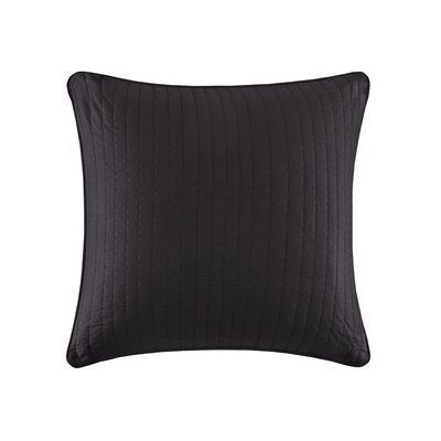 Camila Quilted Euro Sham Color: Black