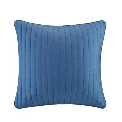 Camila Quilted Euro Sham Color: Navy
