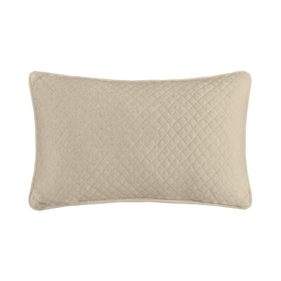 Shelby Quilted Oblong Cotton Heathered Jersey Throw Pillow Color: Natural