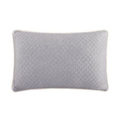 Shelby Quilted Oblong Cotton Heathered Jersey Throw Pillow Color: Gray