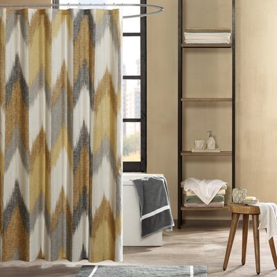 Mcshan Cotton Printed Shower Curtain Color: Yellow