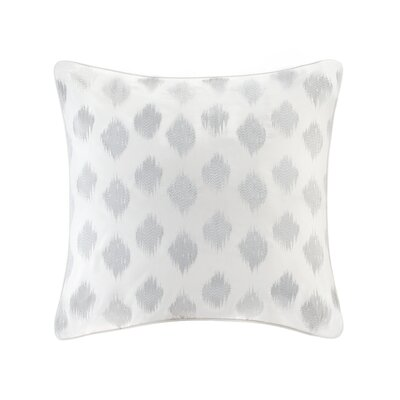 Nadia Dot Embroidered Euro Sham Color: Silver