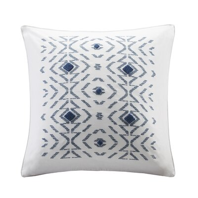 Cybil Embroidered Cotton Throw Pillow