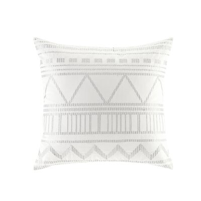 Pangle Embroidered Cotton Throw Pillow