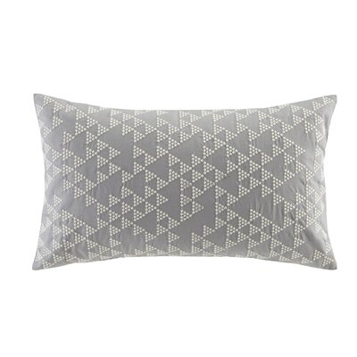 Thea Embroidered Cotton Lumbar Pillow