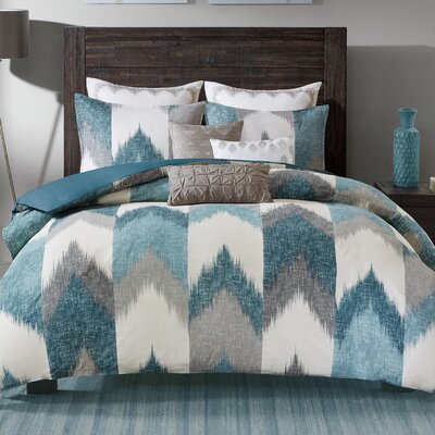 Alpine 3 Piece Duvet Cover Set Size: Full/Queen, Color: Aqua