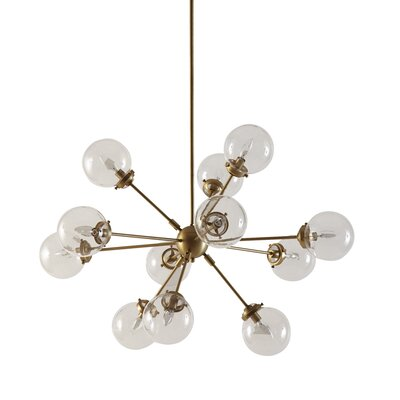 Paige 12-Light Sputnik Chandelier Finish: Gold