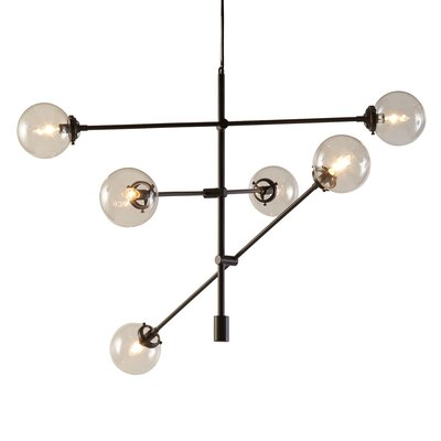 Cyrus 6-Light Sputnik Chandelier Finish: Bronze