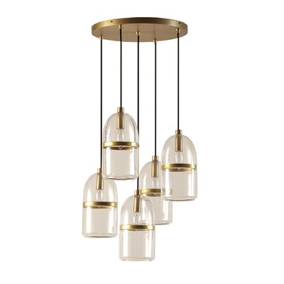 Copula 5-Light Cascade Pendant