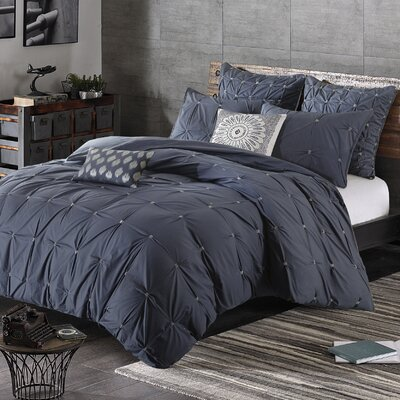 Masie 3 Piece Comforter Set Size: King/California King, Color: Dusty Navy