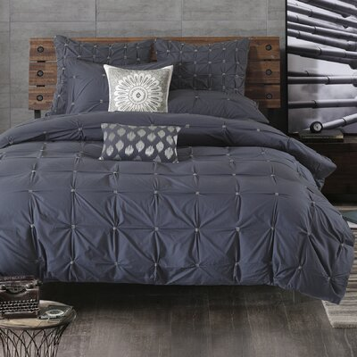 Masie 3 Piece Duvet Cover Set Size: Full / Queen, Color: Navy