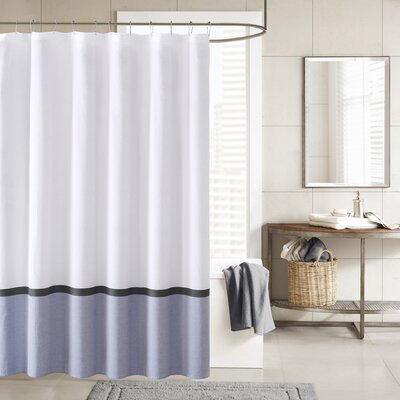 Hudson Shower Curtain Color: Blue
