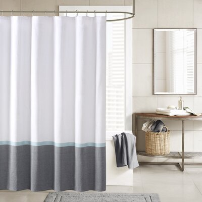 Hudson Shower Curtain Color: Aqua