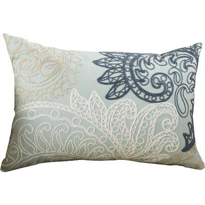Kiran Embroidered Cotton Lumbar Throw Pillow Color: Blue