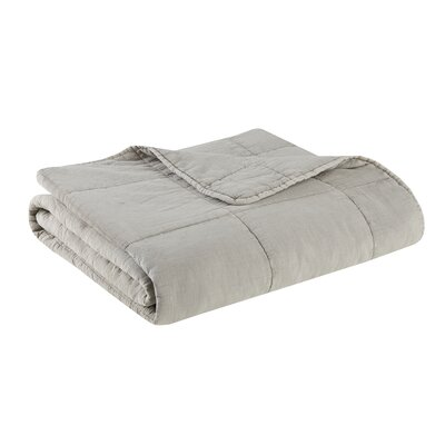 Casper 100% Cotton Quilted Throw Color: Taupe