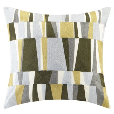 Lars Embroidered Throw Pillow Color: Green