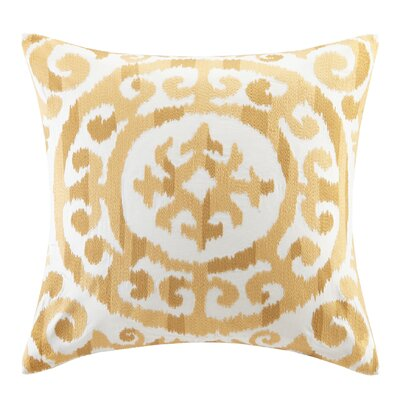 Mead Embroidered Medallion Decorative Pillow Color: Yellow