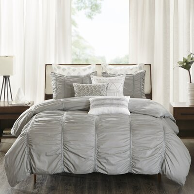 Reese 3 Piece Duvet Cover Set Size: King/Cal King, Color: Gray