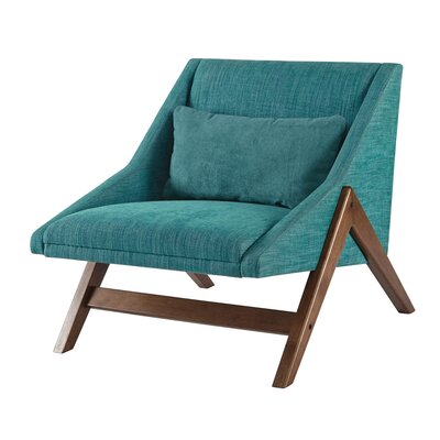 Boomerang Lounge Chair Upholstery: Blue